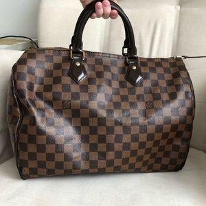 💯Authentic Louis Vuitton Ebene Speedy 35